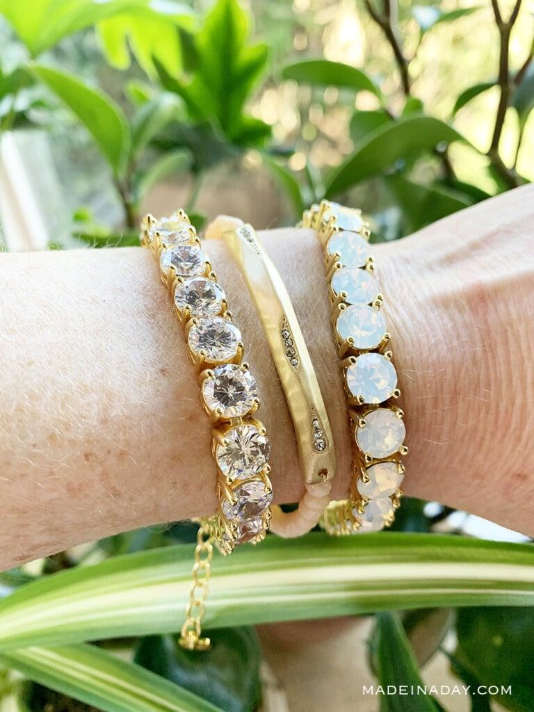 Impressions Crystal Bracelet, Creme Bracelet, Impressions Opal Bracelet
