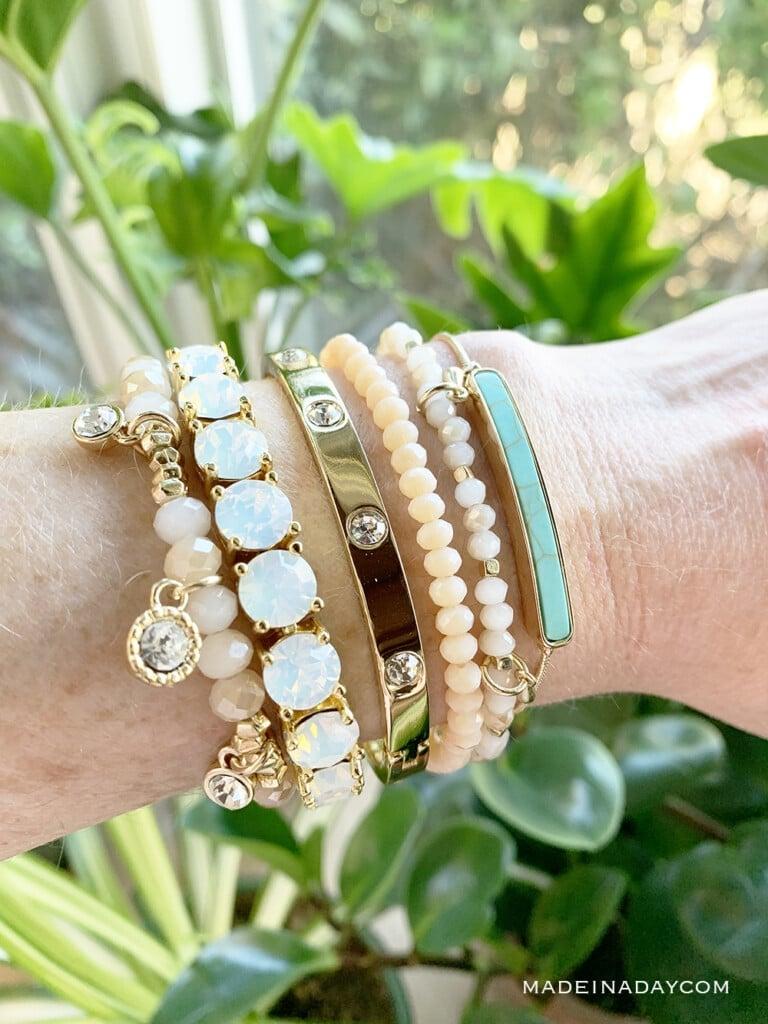 Creme Bracelet, Impressions Opal Bracelet, Jewel Bracelet, Kai Bracelet