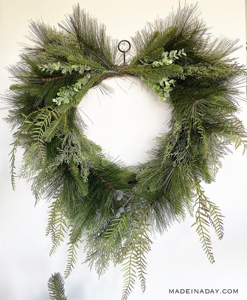 tropical pine needle fern wreath