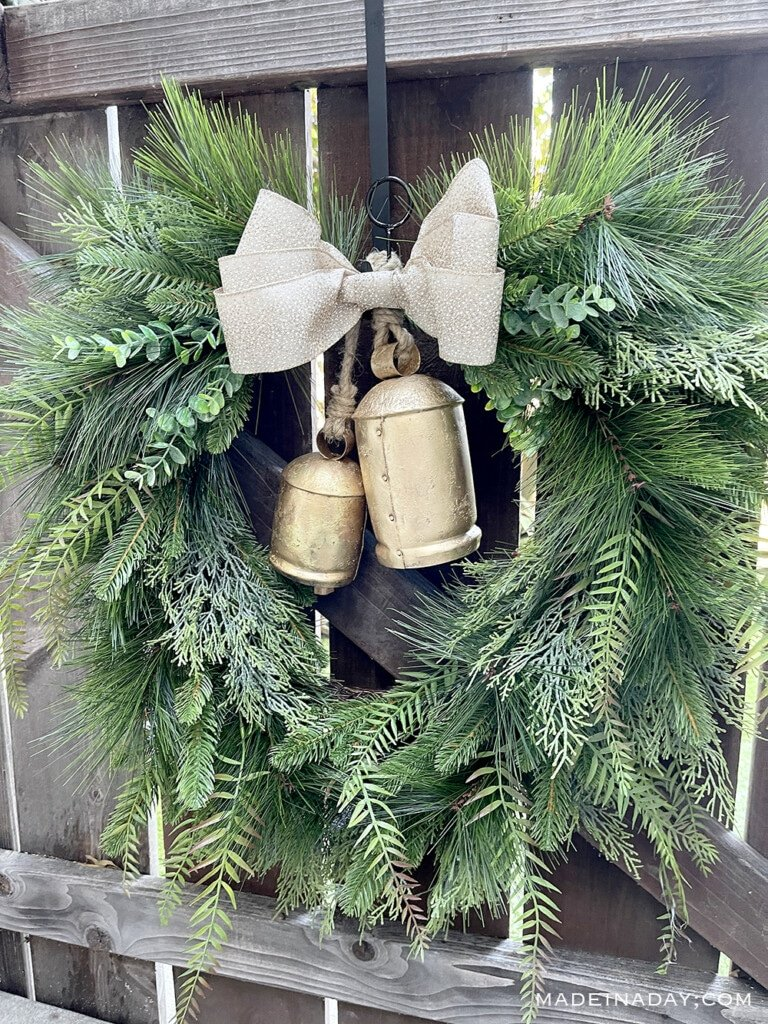 holiday bell wreath