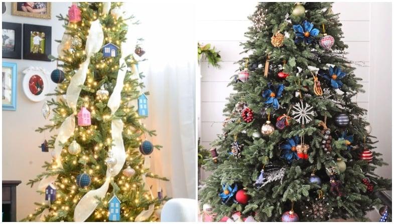 farmhouse christmas trees