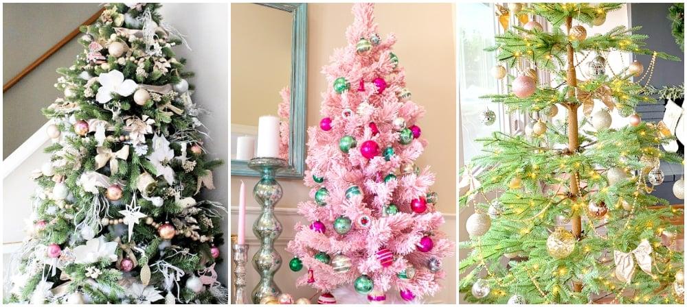 blush christmas trees