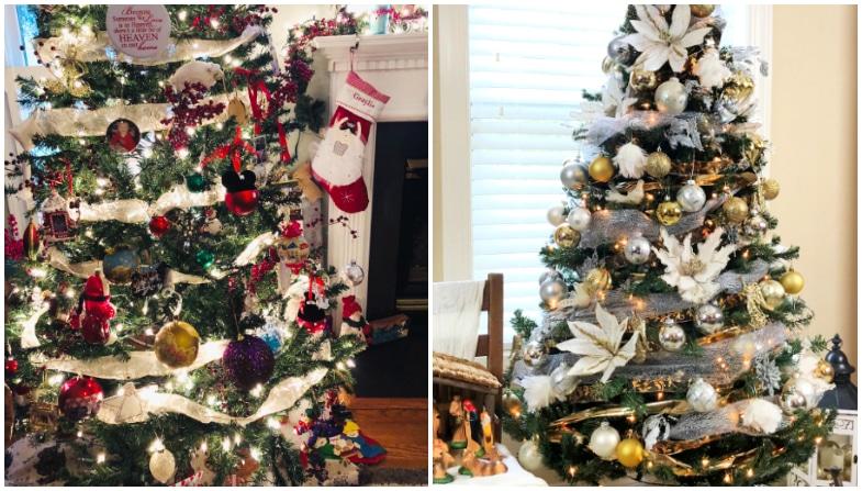poinsettia white christmas tree
