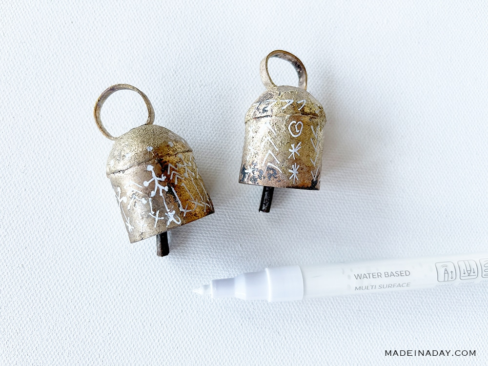painted vintage bell ornaments