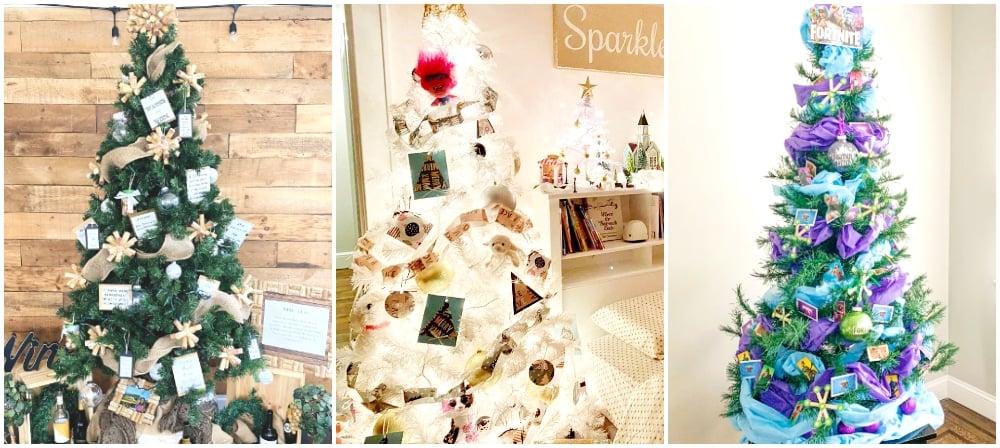 wine christmas tree, white christmas tree, fortnight christmas tree