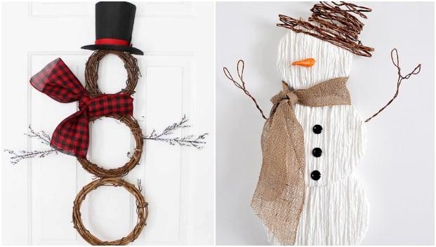 snowman door hangers