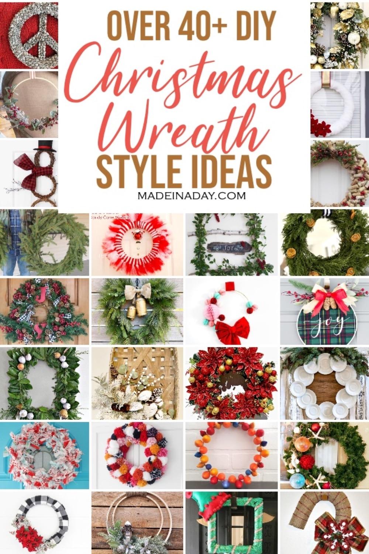 40+ DIY Christmas Wreath Decorations -All Styles