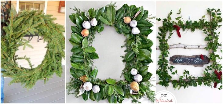 DIY Fresh greenery wreaths