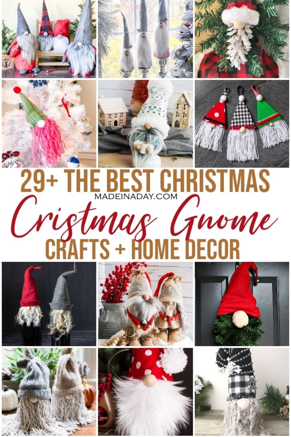 29+ Awesome Christmas Gnome Craft Ideas