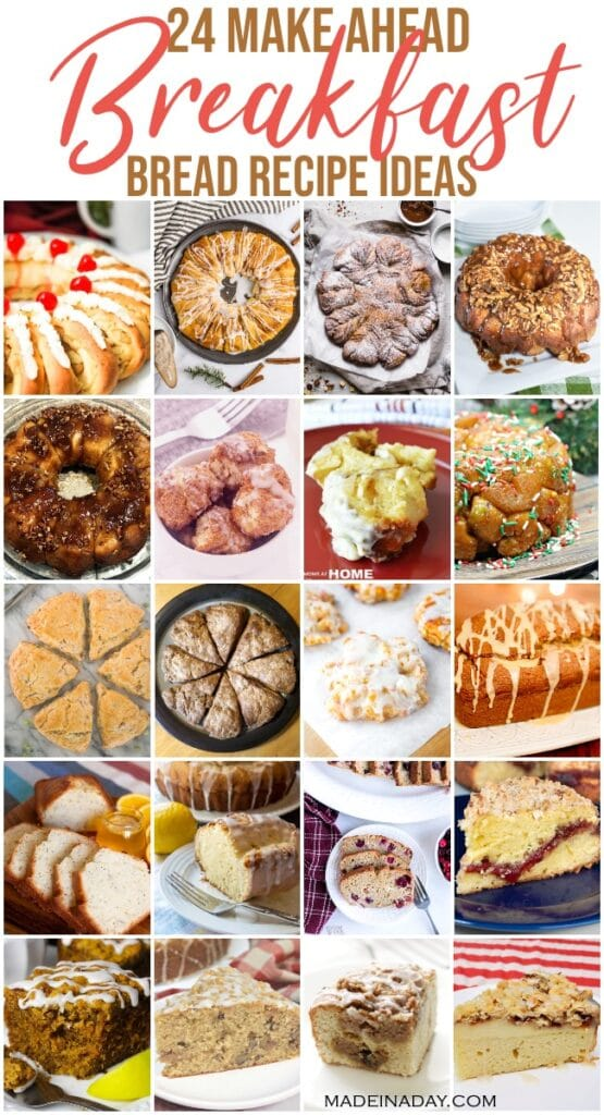 24 Make Ahead Breakfast Bread Recipes