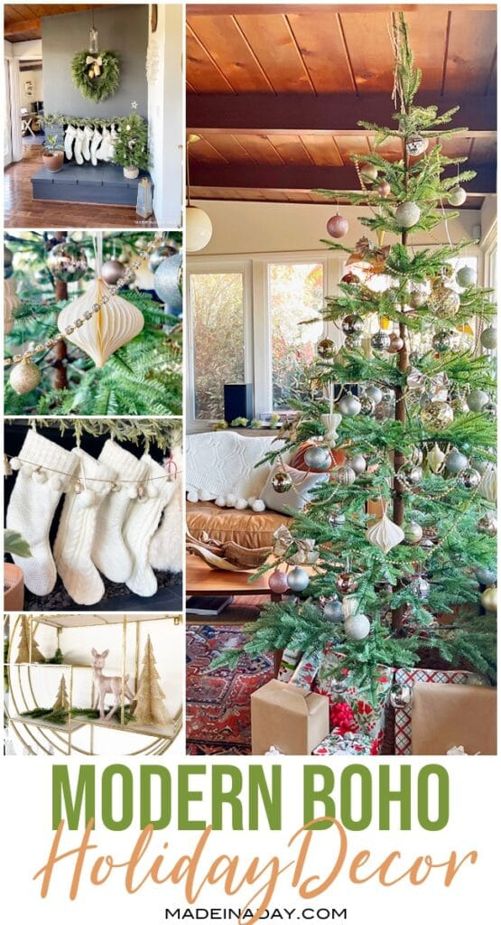 Modern Boho Style Christmas Home Tour