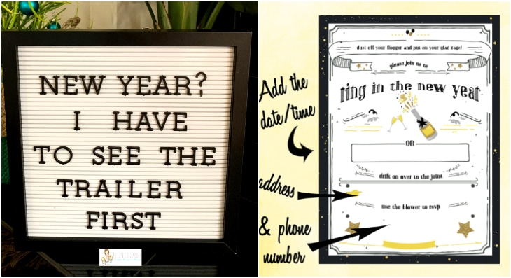 new years eve printable invitations