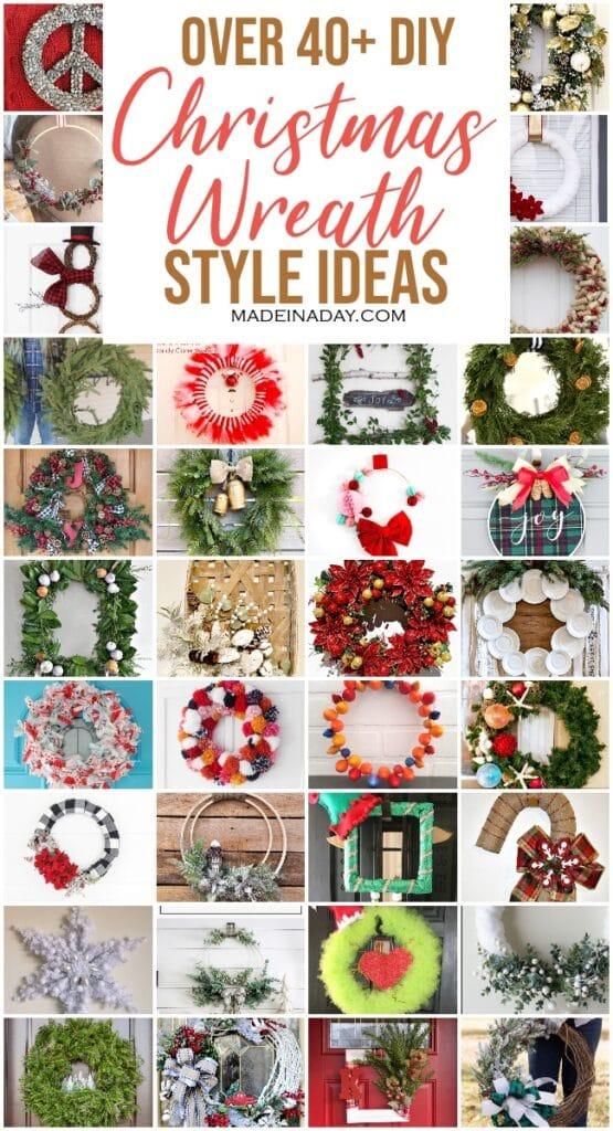 42 DY Christmas wreath styles