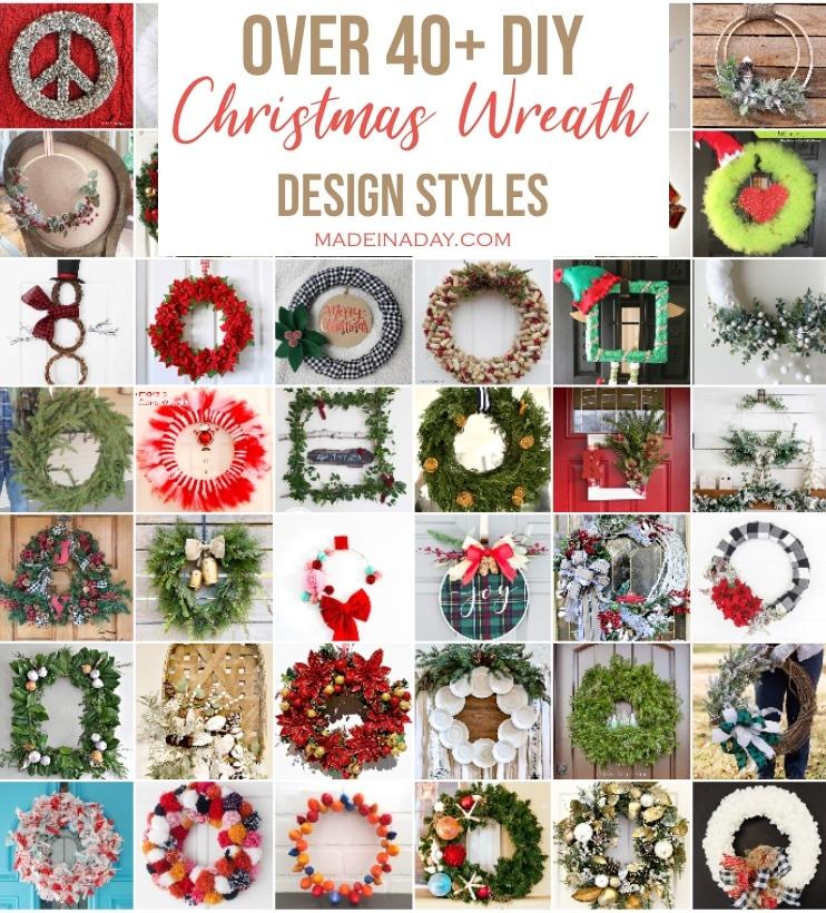 40+ DIY Christmas Wreath Decorations