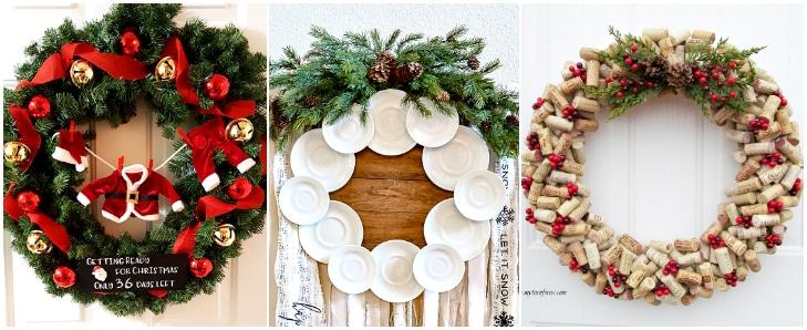 advent calendar wreath, plate wreath