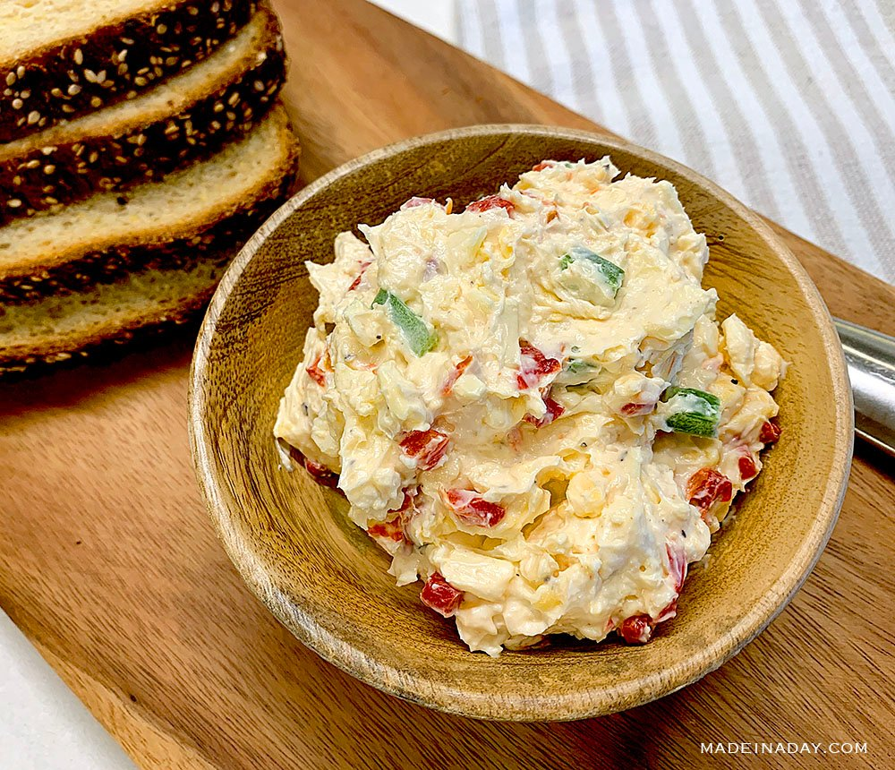 homemade jalapeno Pimento cheese