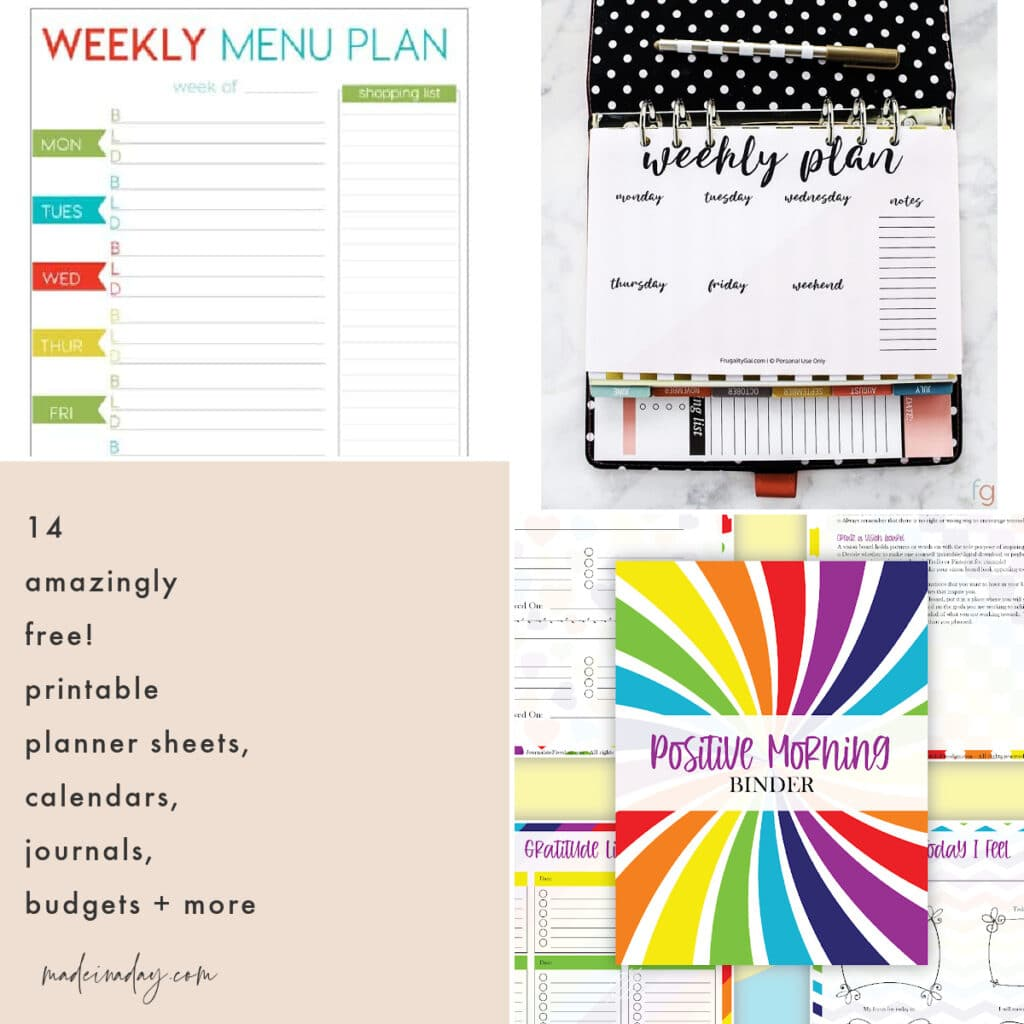 14 Free Printable Planner Sheets, Journal Budget Sheets