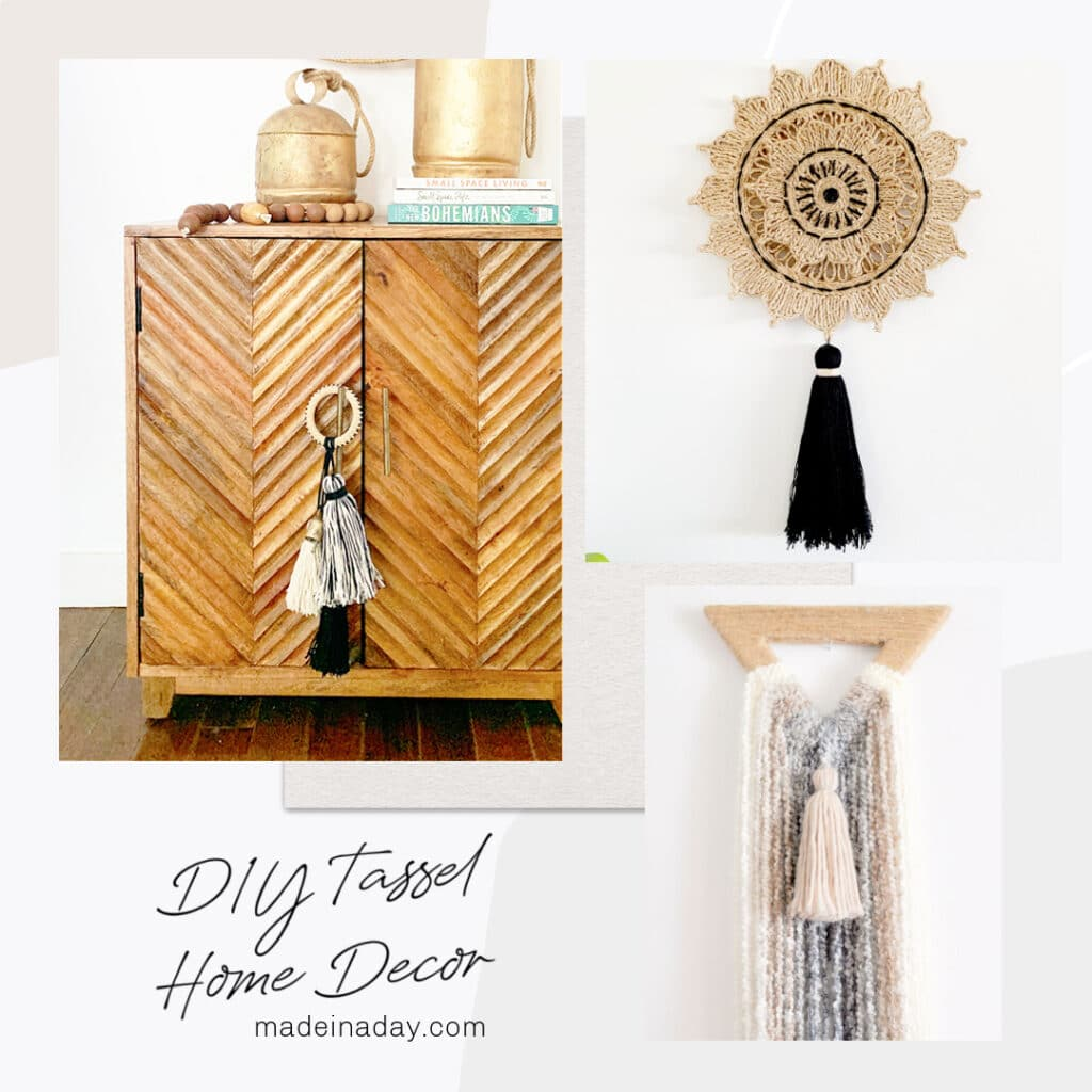 Tassels and Fringe jewelry and home decor, how to make tassels