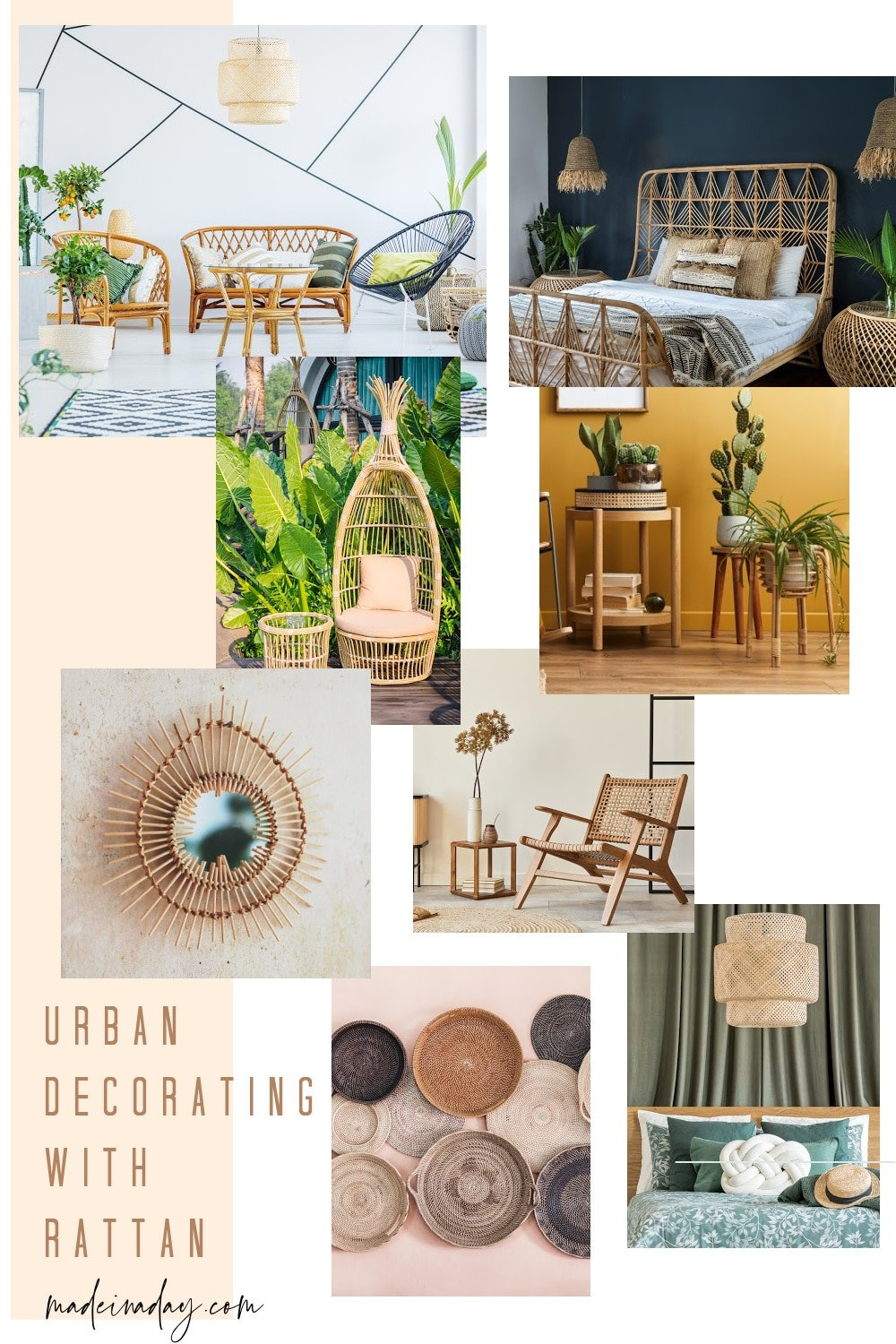 Fun Urban Decorating with Rattan Furniture and Decor
