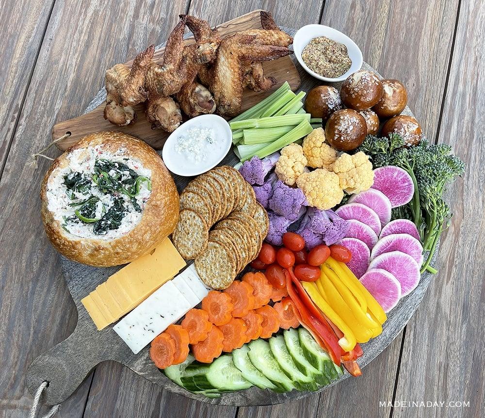 Grazing Charcuterie Board Appetizer Platter