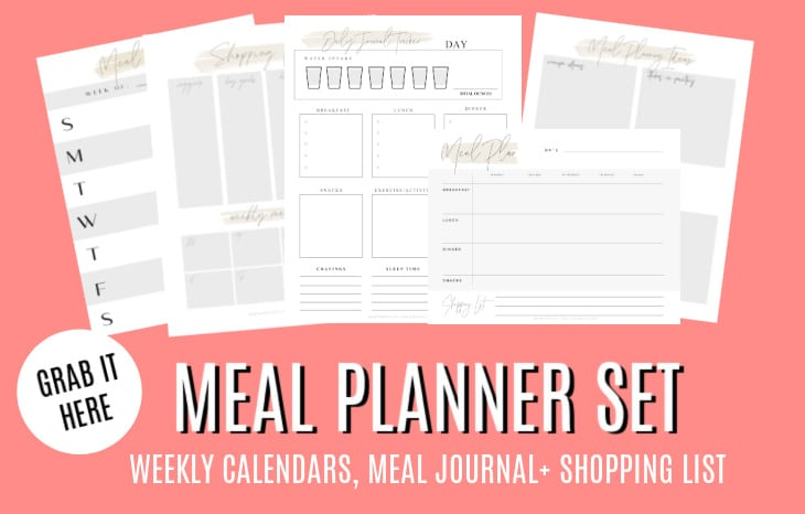 meal planner set printables