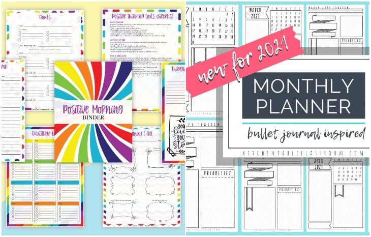 positive morning planner,