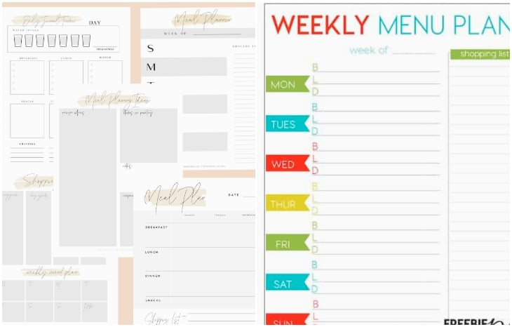 meal planner journal