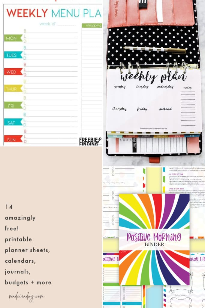 Printable Planner Sheets Sets