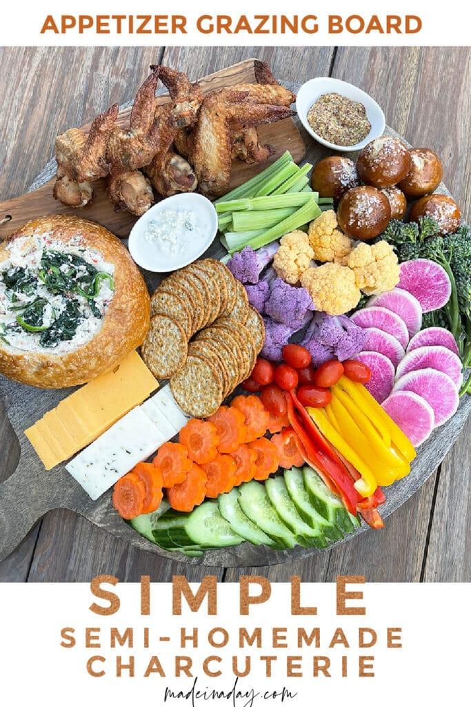 Simple Grazing Board Charcuterie Board Appetizer Platter