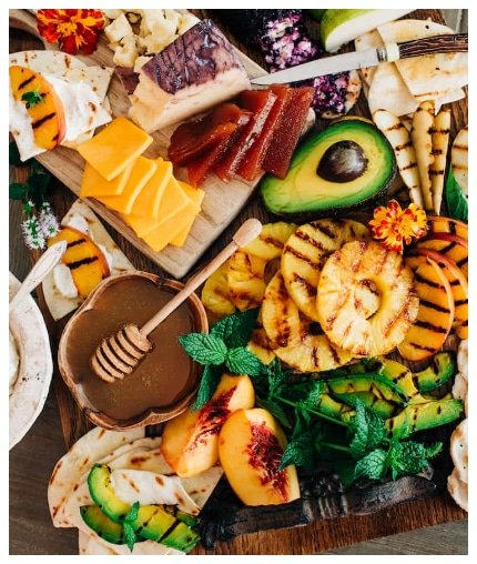 Grilled Fruit Cheese Board