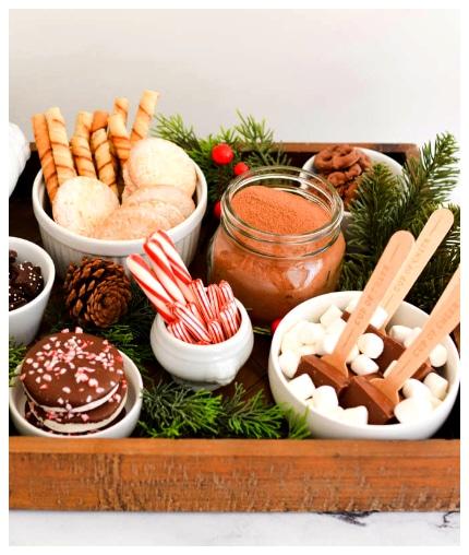 hot chocolate charcuterie board ideas
