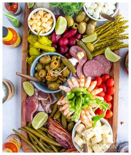 Bloody Mary Charcuterie Board