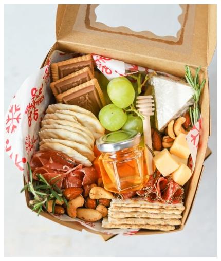 charcuterie board gift box