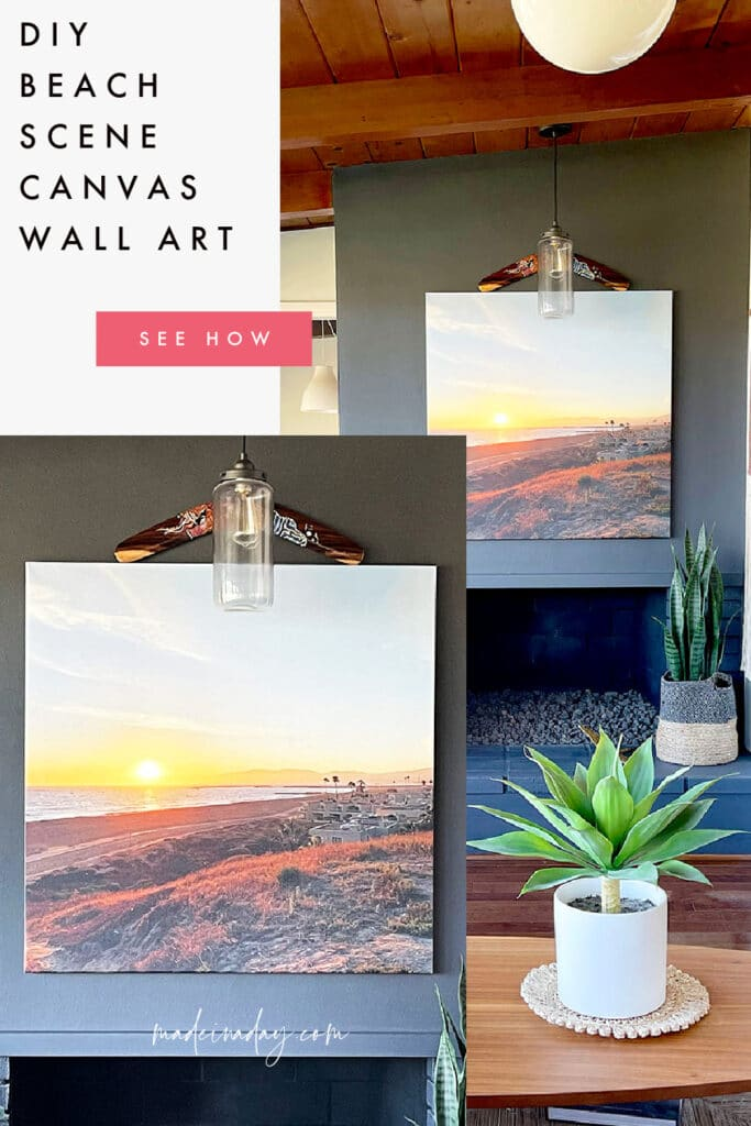 Coastal Beach Scene Photo Canvas Wall Art