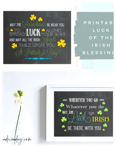 two Irish blessing printables