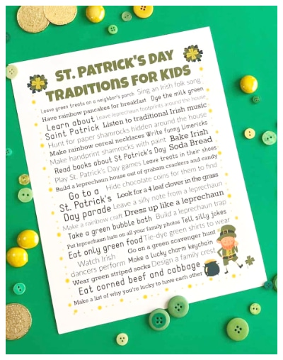 St. Patrick's Day Traditions printables