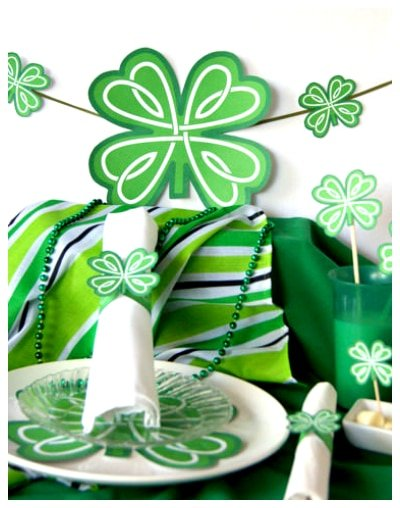 Celtic shamrock party printables