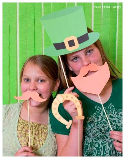 leprechaun photo props for st patricks day