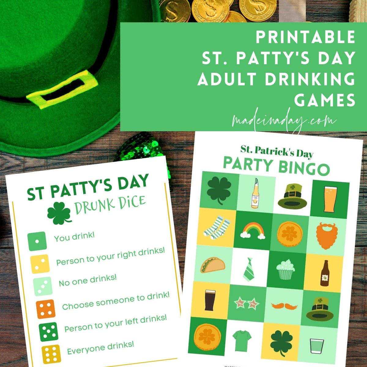 St Patricks Day Drinking Games Printables