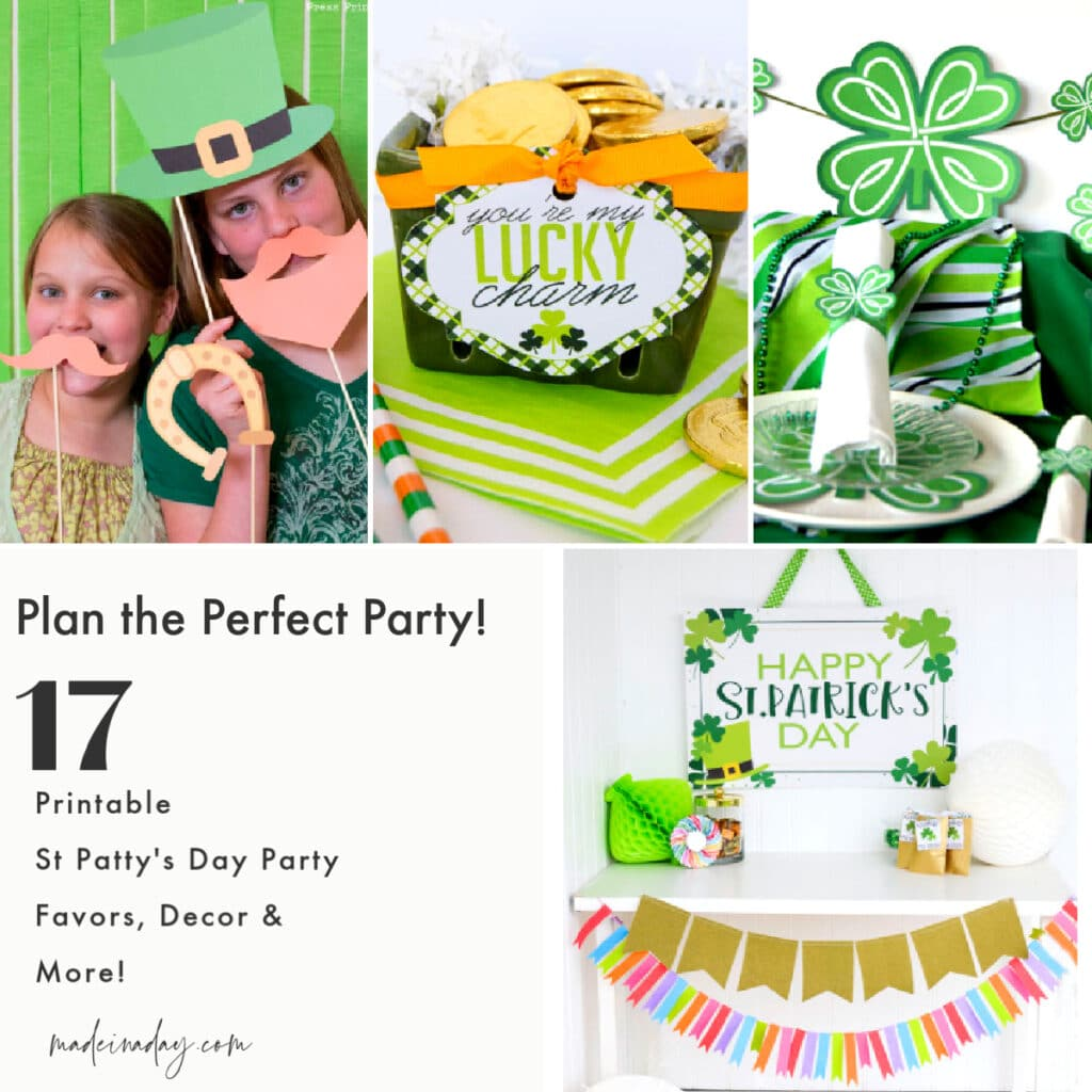 Printable St Patty's Day Party Ideas