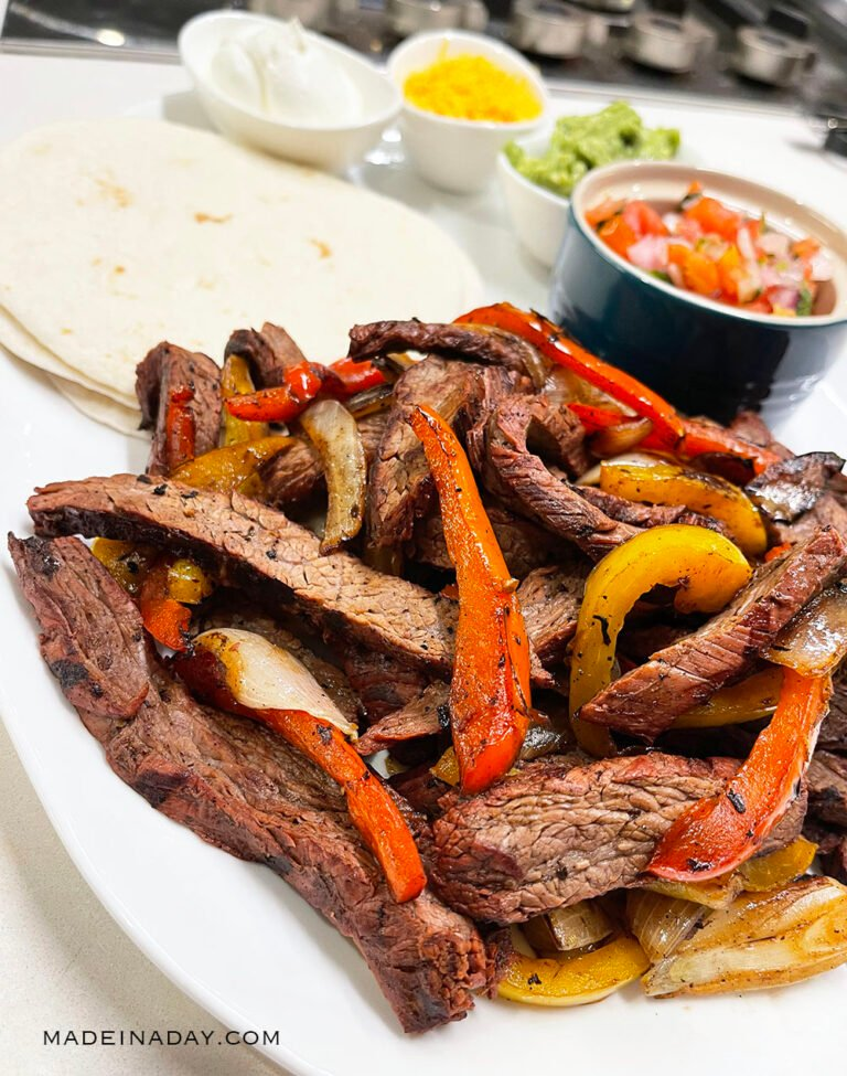 Copycat Chili's Steak Fajitas Recipe (Best Marinade)