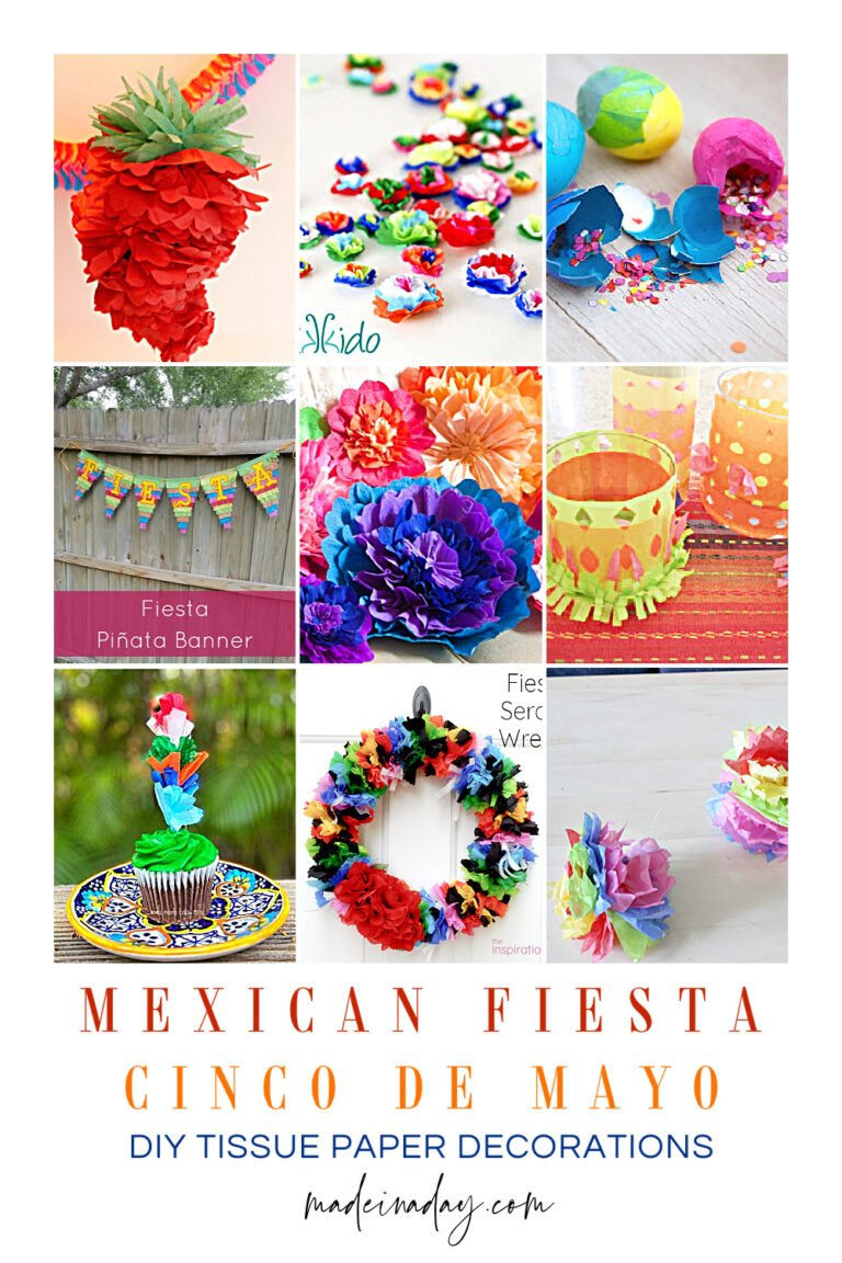 9 DIY Tissue Paper Cinco De Mayo Decorations
