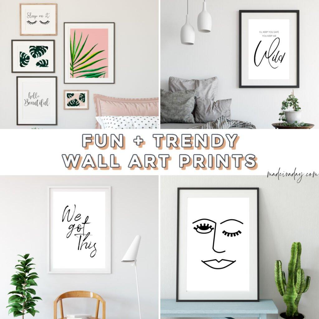 Fun & Trendy Printable Wall Art For Bedroom