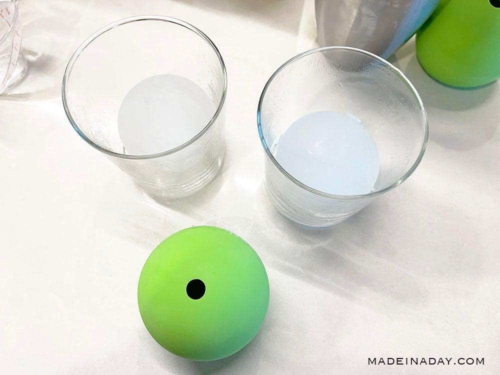 molded ice balls