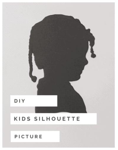 DIY Silhouette Picture Keepsake