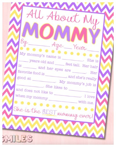 All About Mommy Interview Printable