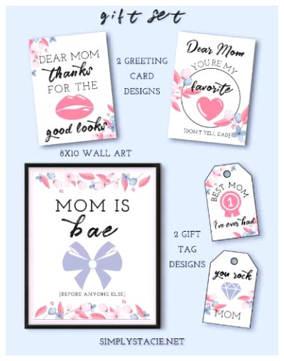 Free Printable Mother's Day Gift Set