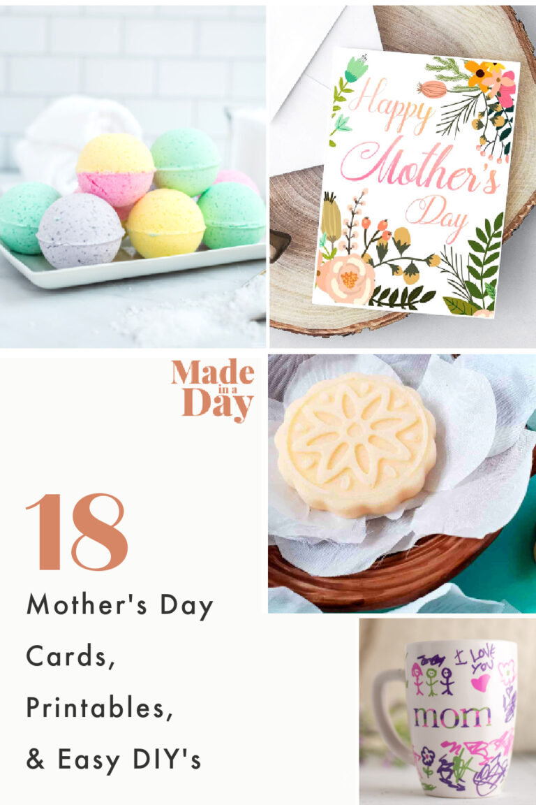 18 Easy DIY Mother's Day Cards & Gifts