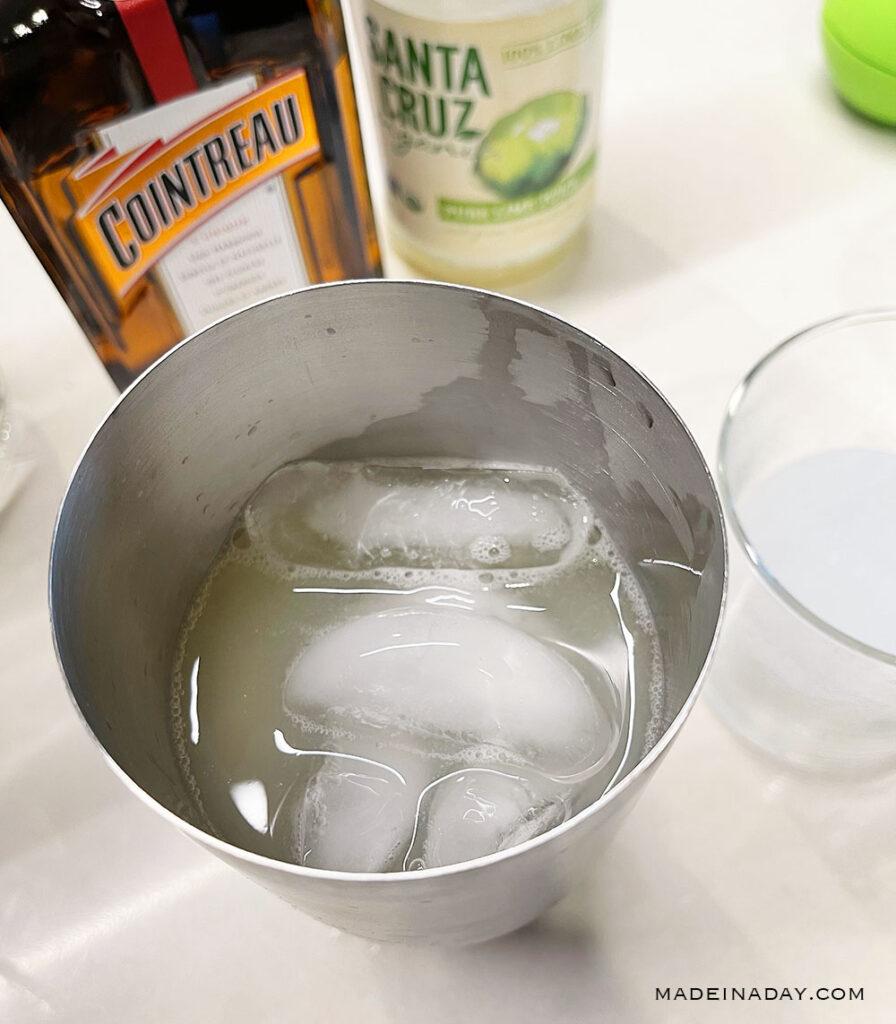 margarita in metal shaker
