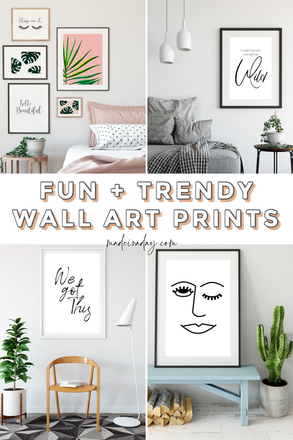 8 Fun & Trendy Printable Wall Art For Bedroom